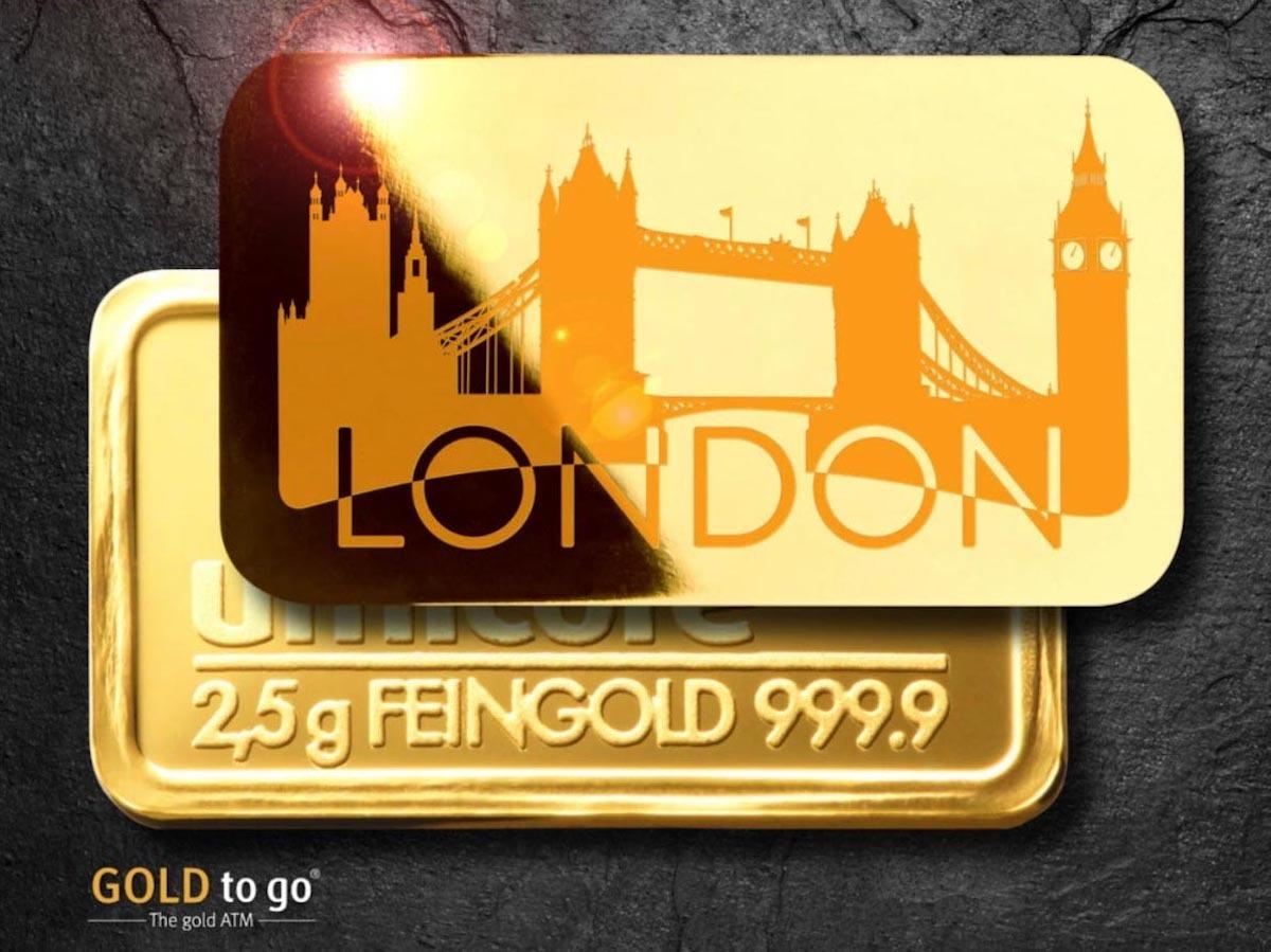 GOLD to go 每10分鐘更新即時金價,提供刷卡或付現購買2.5公克的999.9金條