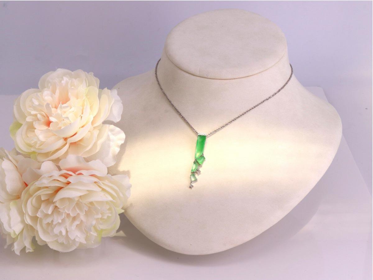 玉石用於輕珠寶設計,為玉增添活潑氣息