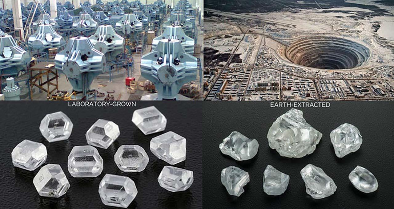 大陸河南未來鑽石的大型製造所;俄羅斯米爾內市天然鑽石礦場