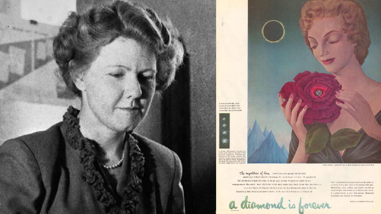 瑪莉‧法蘭西絲‧格雷蒂經典文案鑽石恒久遠,一顆永留傳