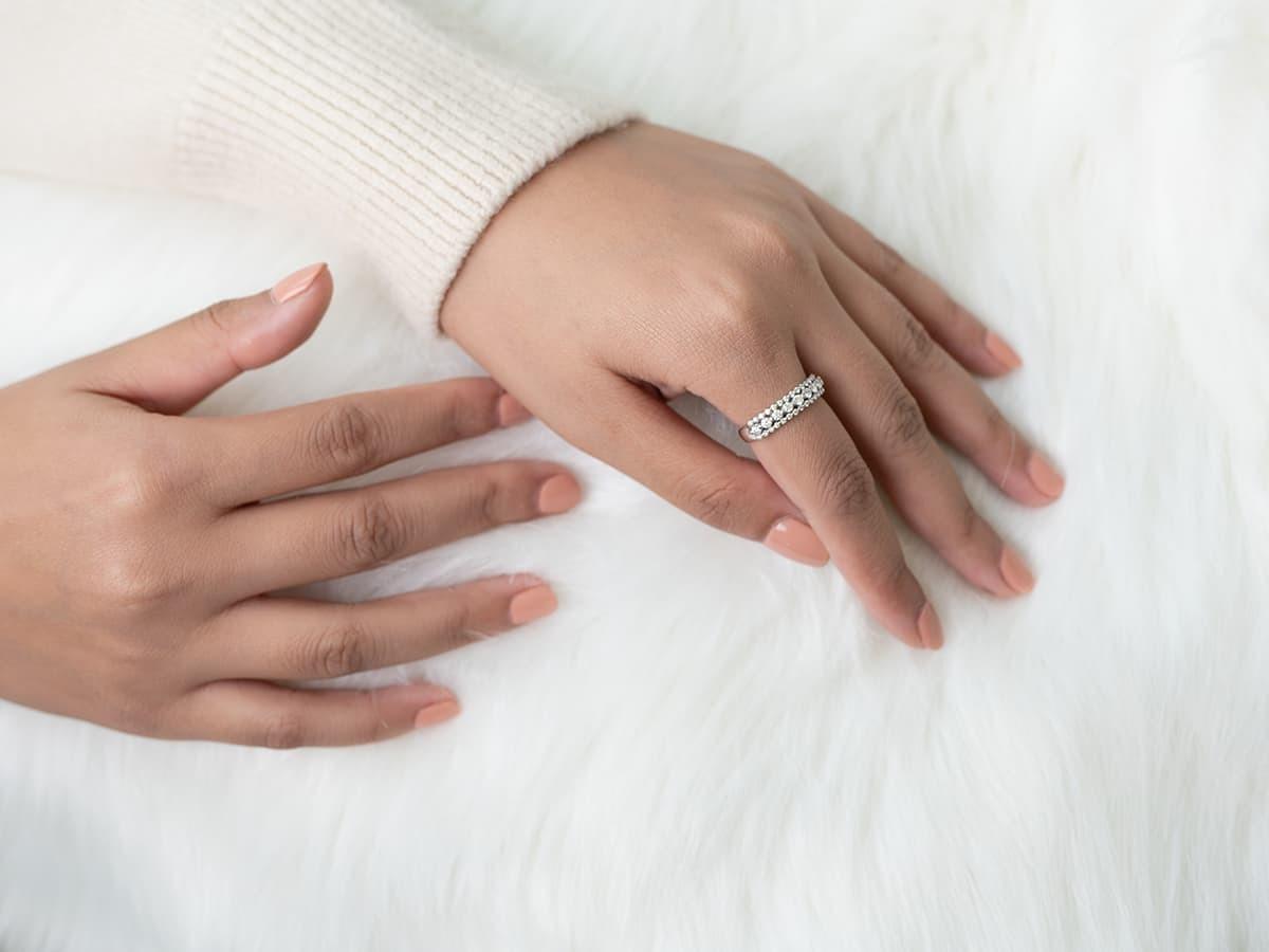 戒指配戴在食指,有招桃花拓展人際關係之意。
