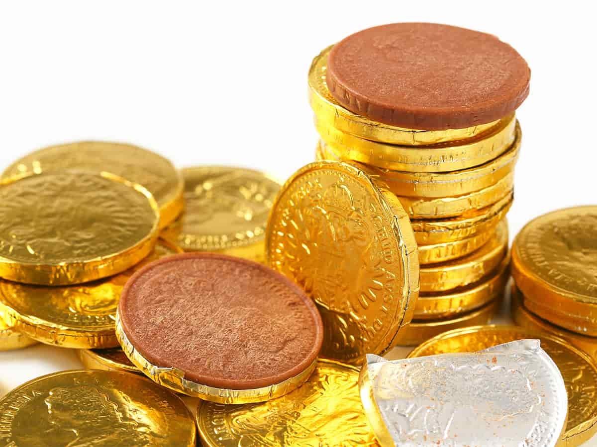 造型特別的巧克力,看起來金光閃閃,像極了金牌。
