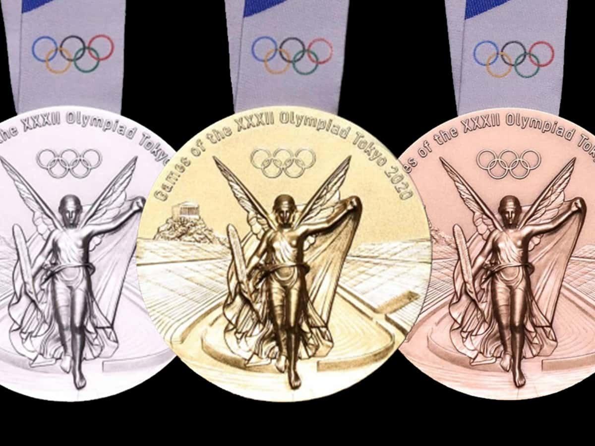 2021年東京奧運獎牌,由日本設計師,川西純一設計。