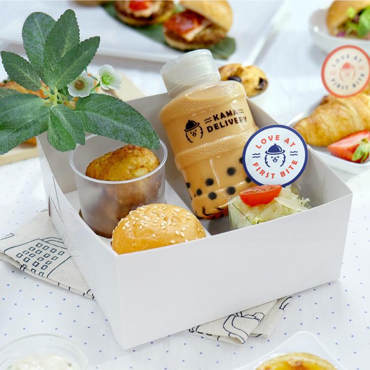 四格小食盒 西式下午茶盒 到會外賣推介2021 Kama Delivery美食速遞服務