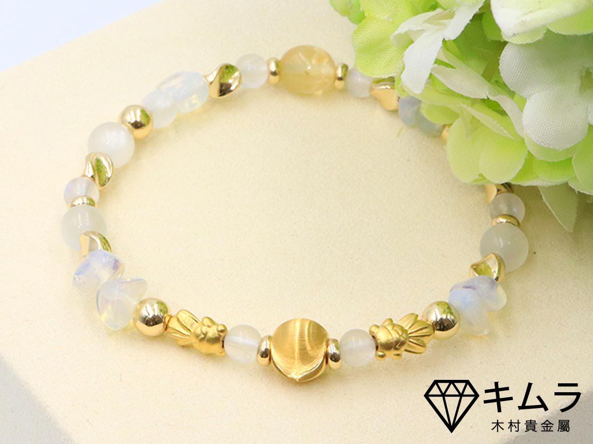 黃金貓眼珠月光石表徵富貴與柔化心靈。