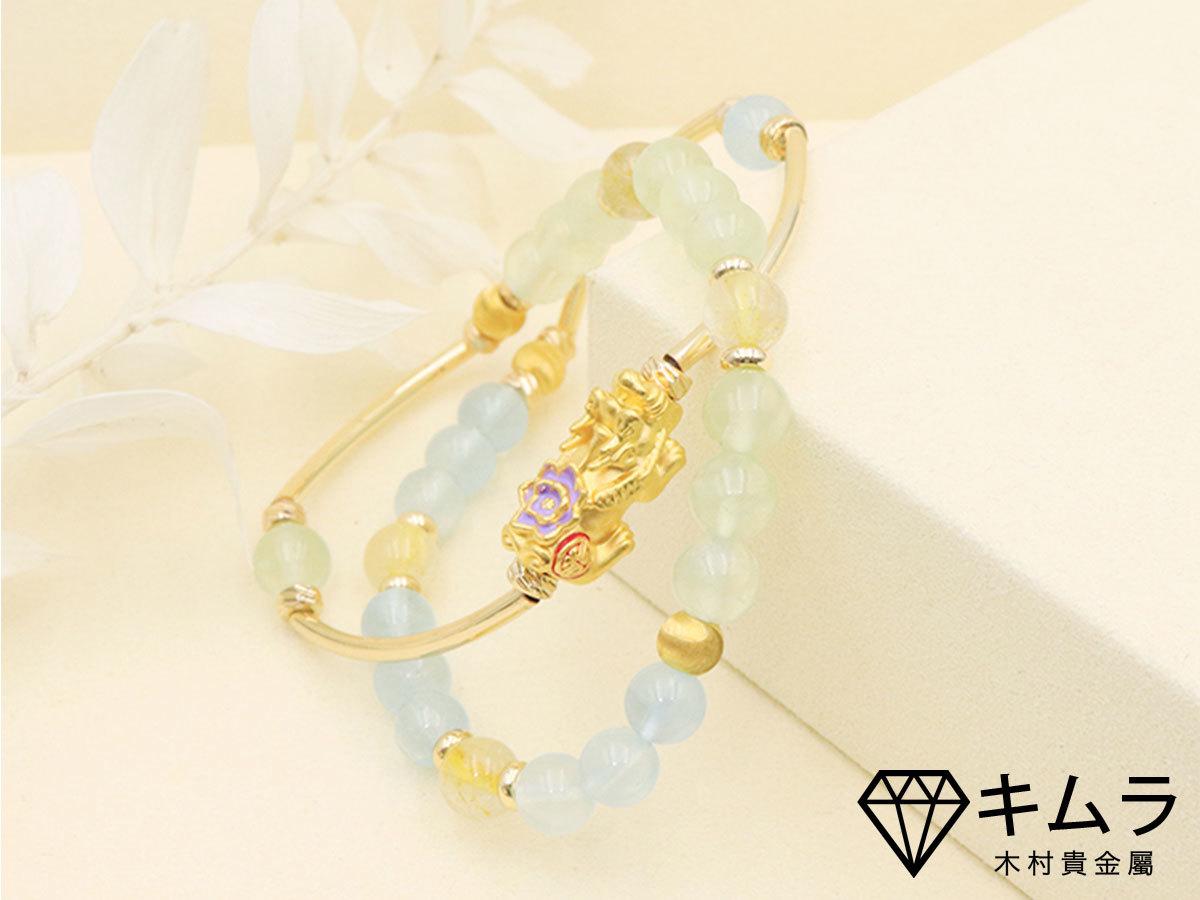 招財貔貅海水藍寶石代表旺財運和安定人心。