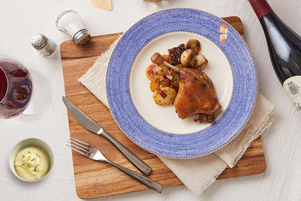 經典櫻桃鴨料理一:香煎櫻桃鴨搭配炒蘑菇&洋芋泥