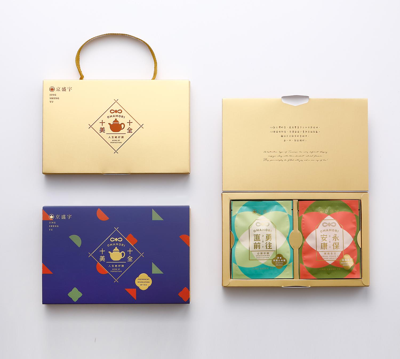 茶葉禮盒、茶包禮盒,十全十美御守袋茶禮盒