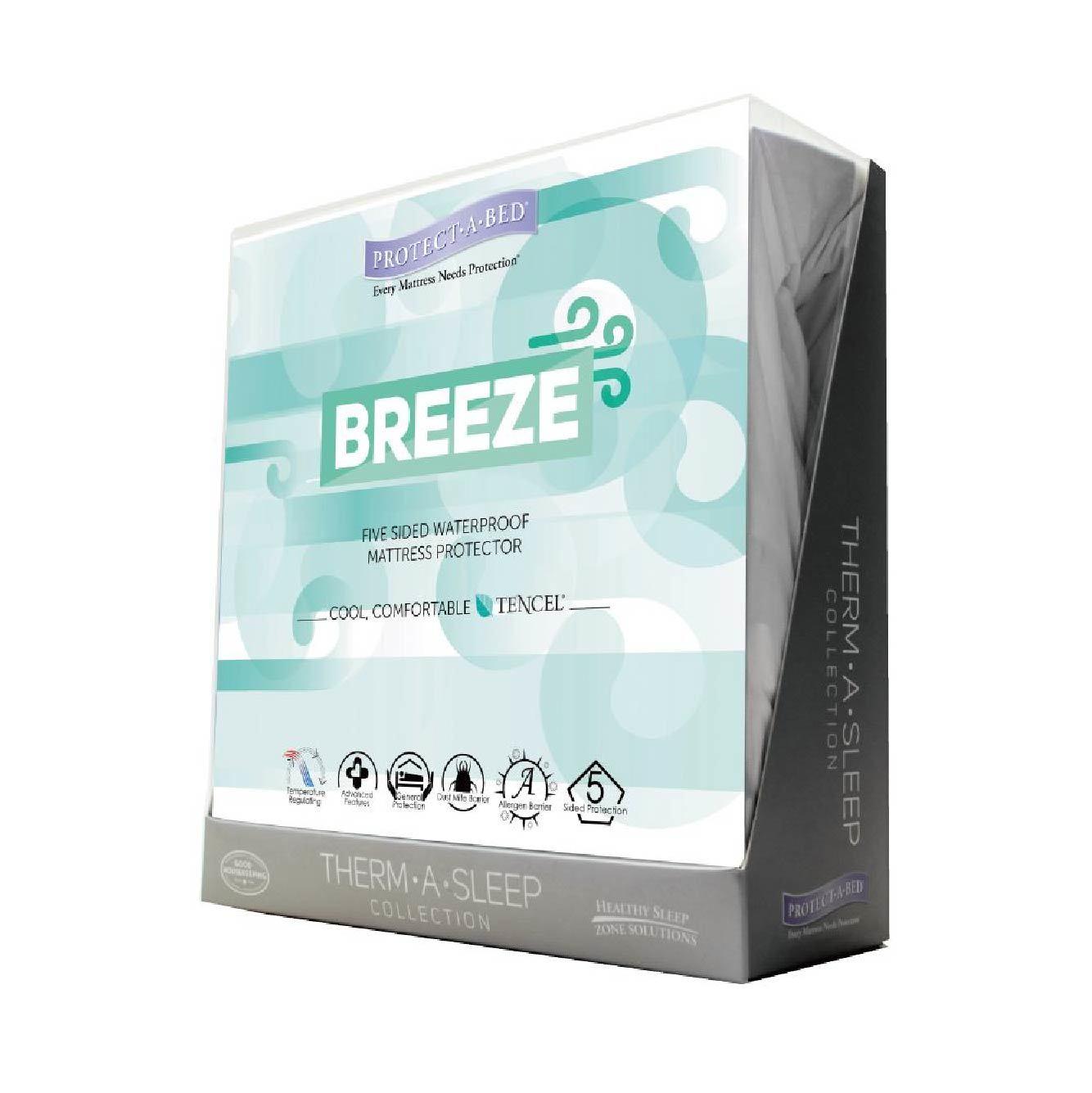 寢之堡Breeze五面防水床包式保潔墊(雙人)