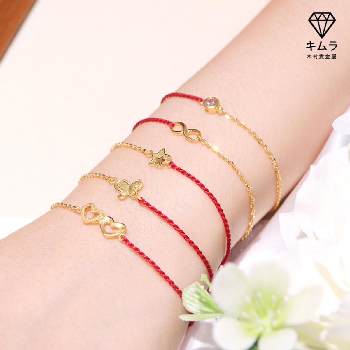 純金造型蠟繩手鍊