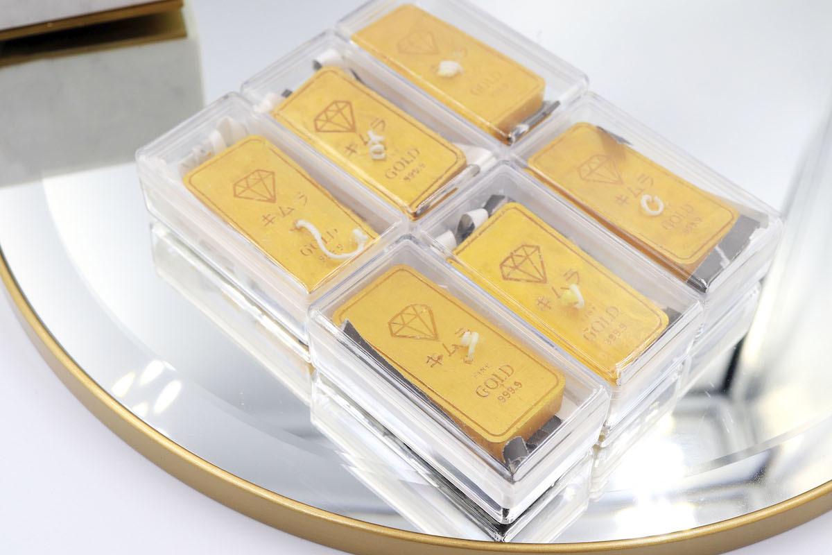 五倍券買金條送限量黃金條塊蠟燭
