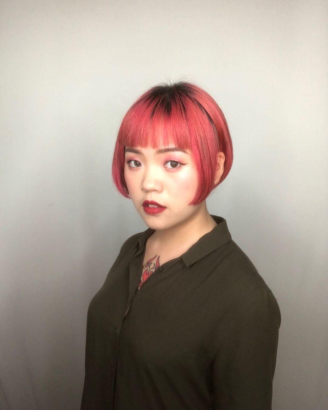 Ink Hair 設計師作品集-大勢短髮圖鑑|現在短髮美女才是王道,5款熱門短髮造型推薦,大勢短髮女生造型五:日系圓短髮