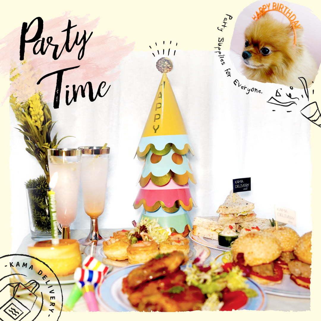 生日頭飾、蠟燭、餐具|網上訂購精美派對用品|Kama Delivery外賣速遞服務