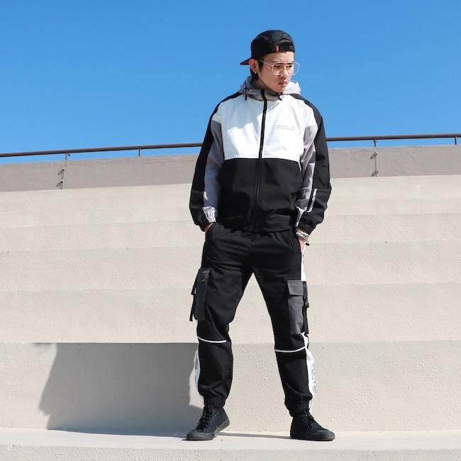 風衣外套穿搭II – 超輕薄潮流拼接 – Retop防潑水輕量拼接薄風衣