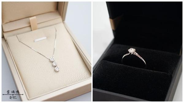 K金金飾搭配鑽石系列商品-三圓圓鑽石項鍊、經典五爪造型鑽石戒指|金滿億台南銀樓