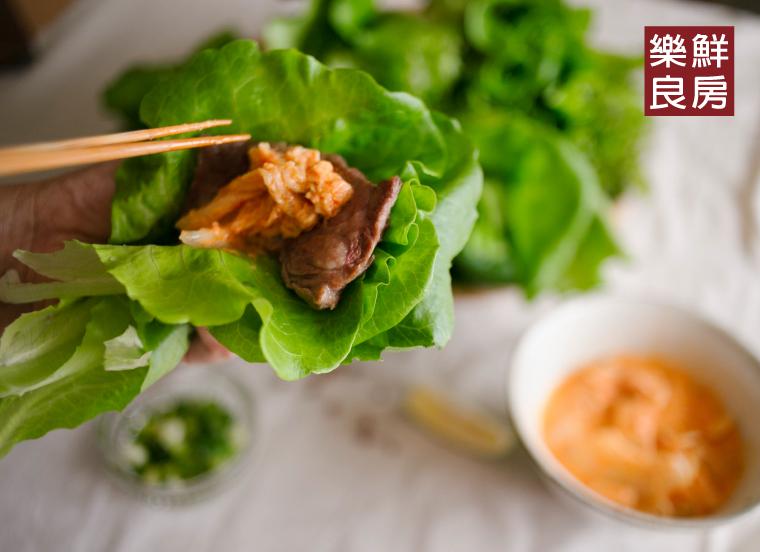 生菜料理應用一:生菜包肉