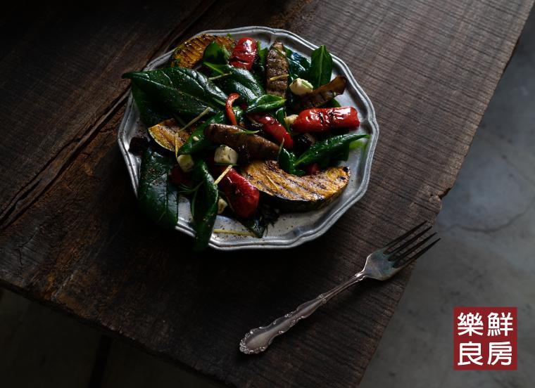 生菜料理應用二:烤南瓜嫩菠菜溫沙拉