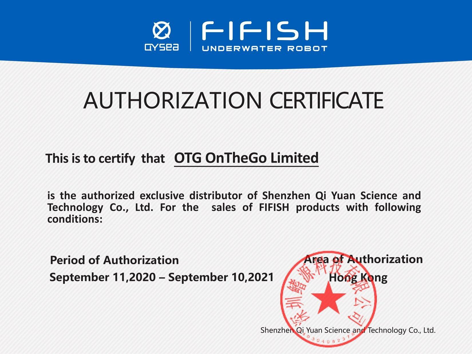 OTG 成為 QYSEA 水下無人機香港獨家總代理