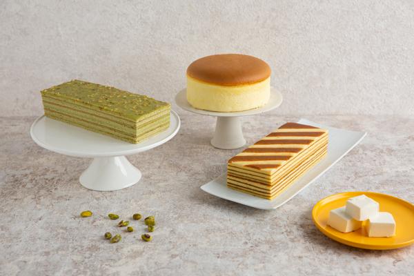 輕乳酪蛋糕 千層乳酪蛋糕 杏仁開心果蛋糕