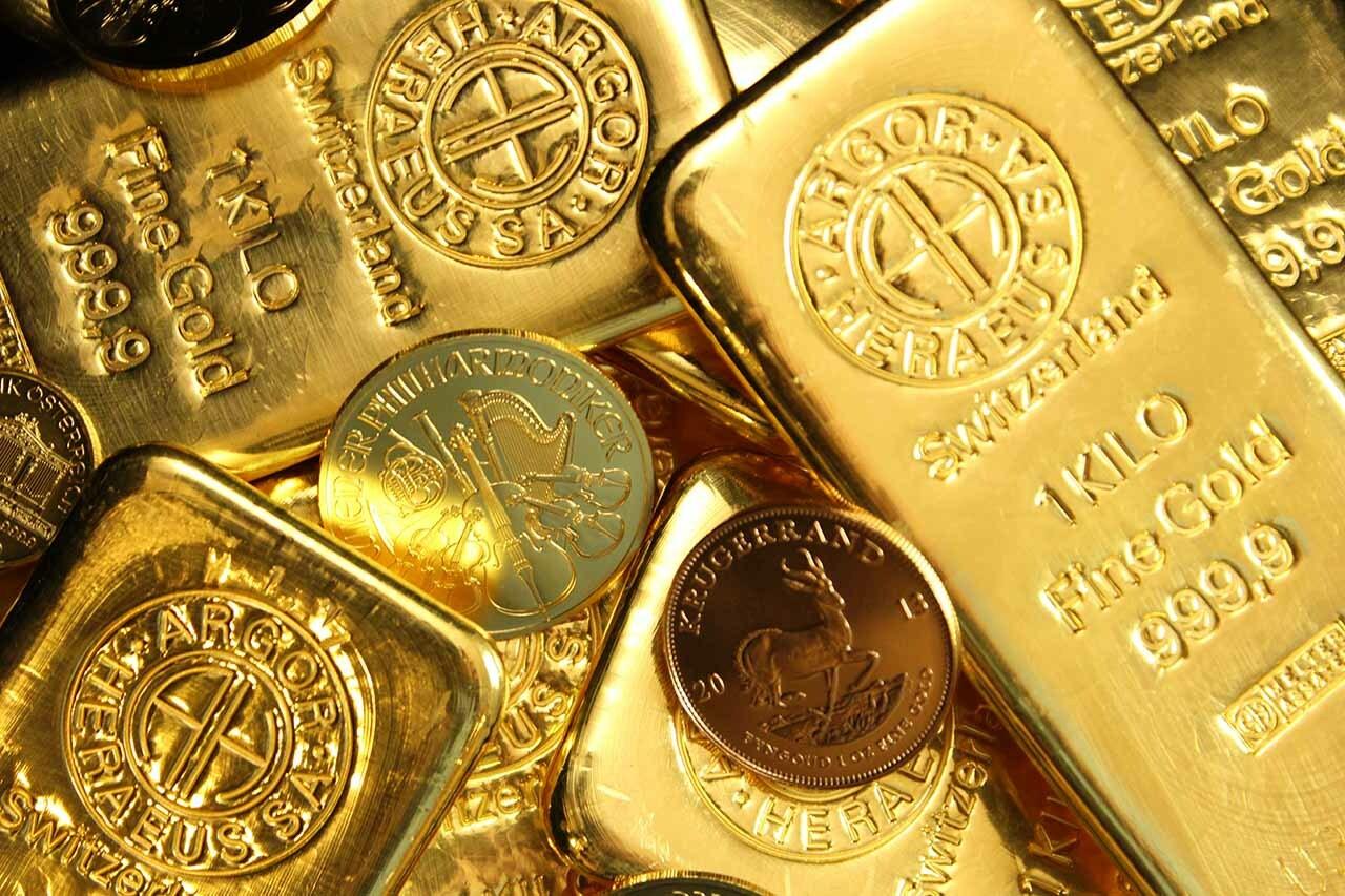 金燦燦的黃金與金幣