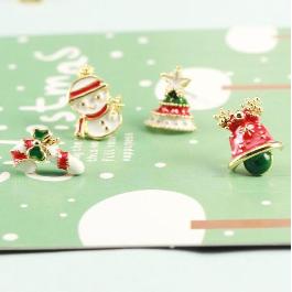 情人節送禮全攻略-聖誕老人耳環